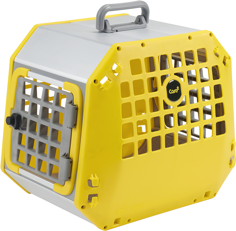 small dog crate - small yellow