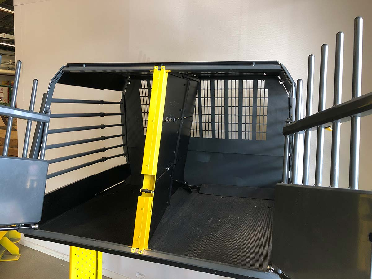 safe dog car crate